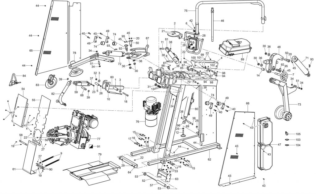 Ravaglioli GTB16 N Main Assembly