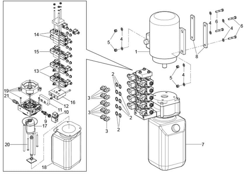 Ravaglioli GTB16N Hydraulic Unit