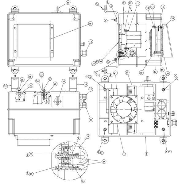 Ravaglioli GTB16N Inverter Unit Variation with Inverter