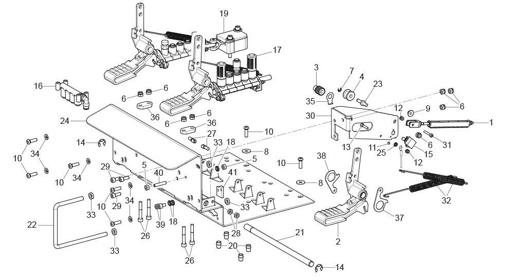 G8945DS.ITA 3 Pedal Pedalboard Unit