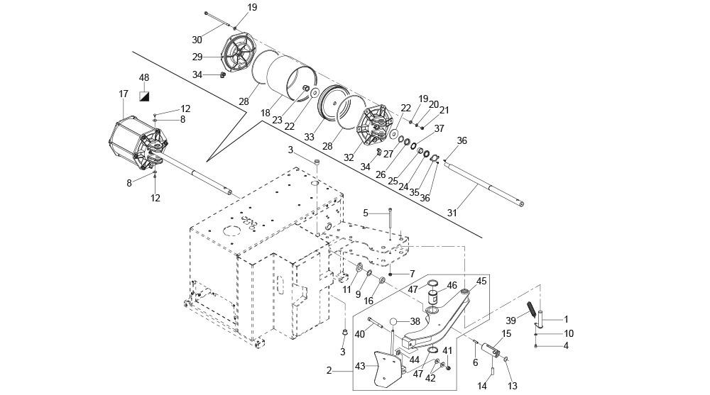 G8945DS.ITA Bead Breaker Arm Unit