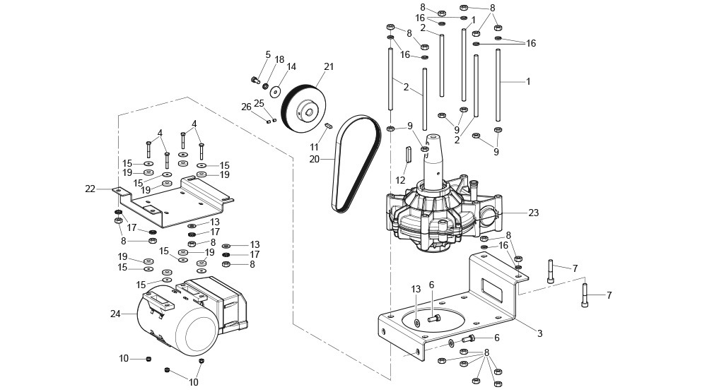 G8945DS.ITA Gearmotor Unit with Inverter