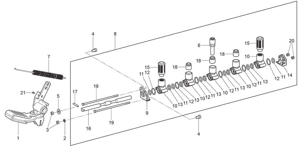 G7645ID.26 Bead Breaking Pedal Unit