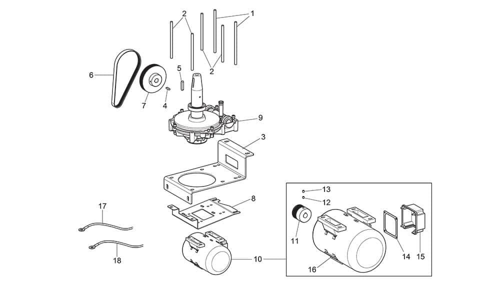 G7645ID.26 Gearmotor Unit with Inverter