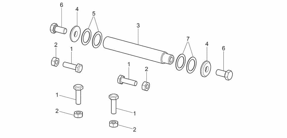G7645ID.26 Rod Tilting Fulcrum Unit