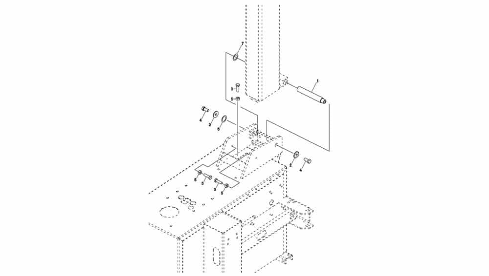 G8645.26 Rod Tilting Fulcrum Unit