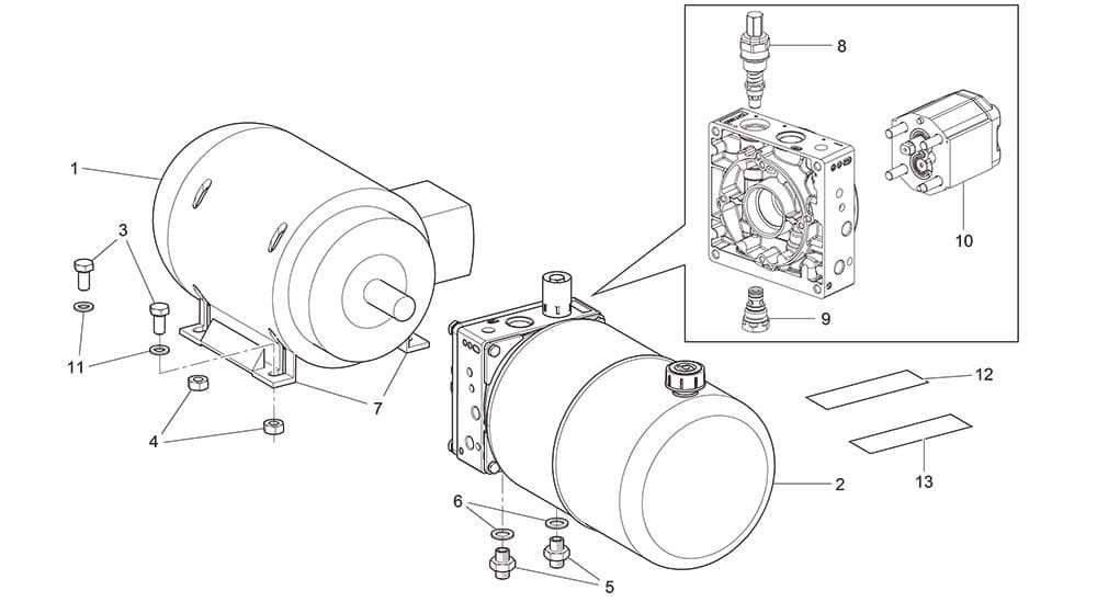 GRS 925 Motor Unit Hydraulic Power Unit
