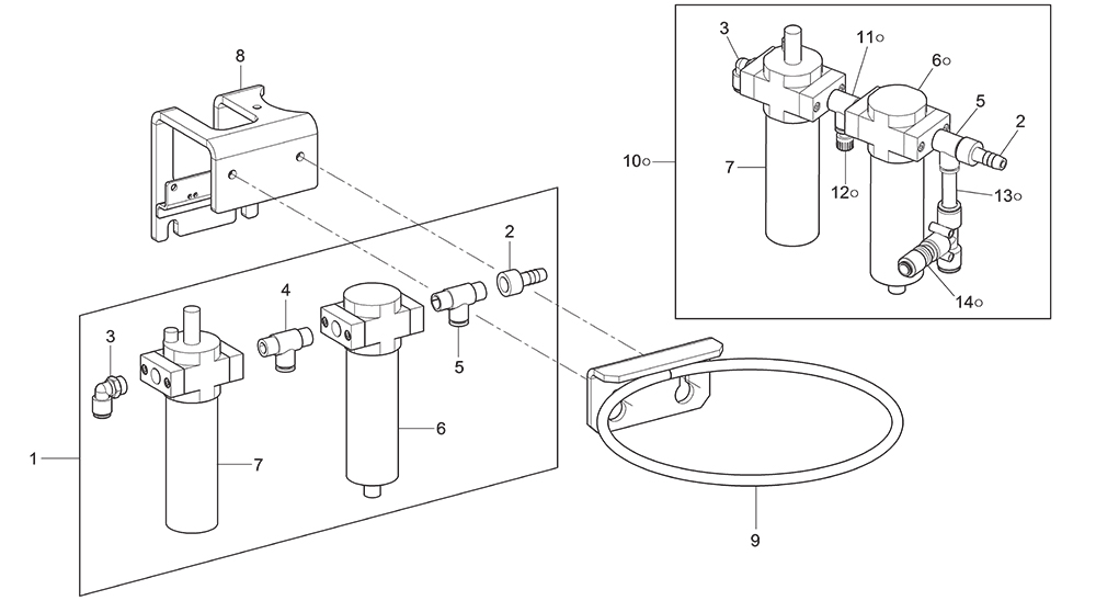 7246-REDUCTION-FILTER-UNIT-+-GREASE-HOLDER-RING